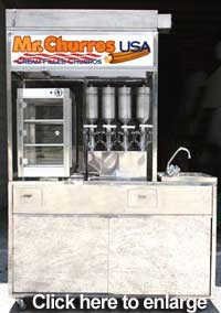 churros cart dispenser one