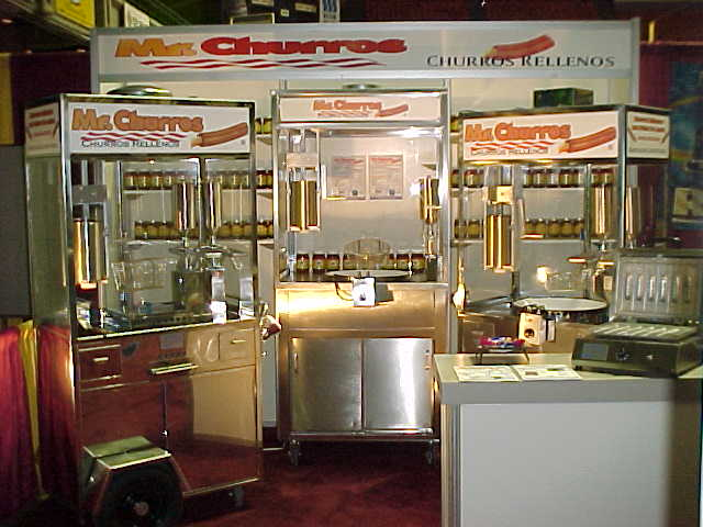 Churros machines at food show