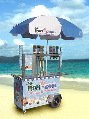 tropicool snowcone machine cart - Commercial Snow Cone Machine
